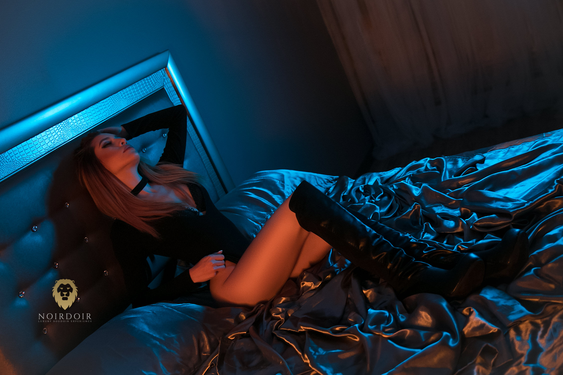 Midnight Glam Boudoir Photoshoot with Irene